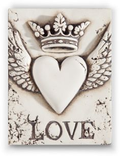 Crown,heart and wings