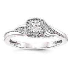 14k White Gold Princessa Diamond Engagement Ring – Sparkle