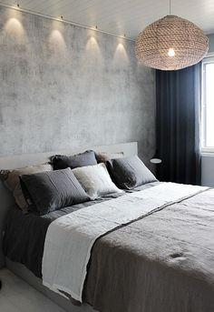 Casual Or Elegant Bedroom Design (What To Choose?) - Interior Decor and Designing Romantic Master Bedroom, Stylish Bedroom, Modern Bedroom, Blue Bedroom, Bedroom Wall, Bedroom Decor, Lighting In Bedroom, Wall Lighting, Interior Design Living Room