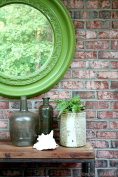 Emily A. Clark - Page 29 of 424 - design. Mirror Painting, Love Eat, Make It Work, Natural Texture, Cut Flowers, Furniture Decor, Painted Mirrors, Brick, Home