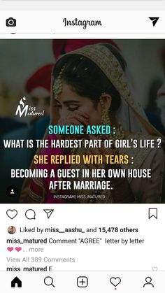 When she is already a guest in her husband's house Father Daughter Love Quotes, Love My Parents Quotes, Mom And Dad Quotes, Crazy Girl Quotes, Real Life Quotes, Girly Quotes, Reality Quotes, True Quotes, Relationship Quotes