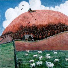 Harrowing in the Cotswolds Artist - Francis Location unknown Landscape Art, Landscape Paintings, Landscapes, John Galliano, Clarks, Steve Madden, When I Dream, Art Object, Gravure