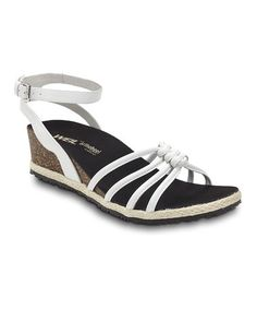 Another great find on #zulily! White Serenity Leather Sandal #zulilyfinds