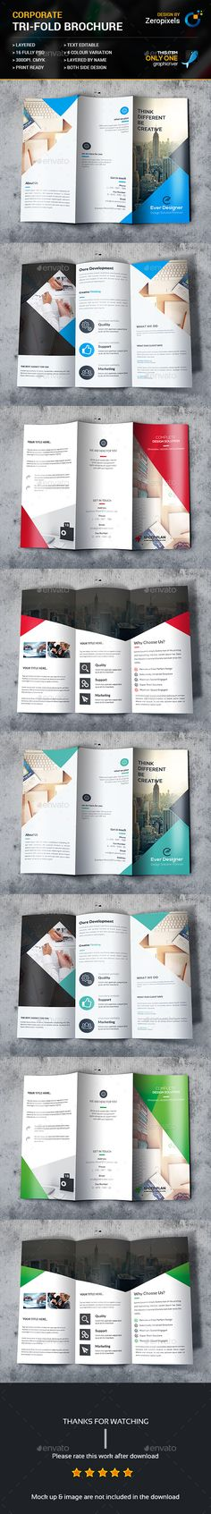Trifold Brochure Template PSD Bundle