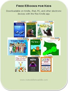 22 free eBooks for kids: several nice picture books and novels are available today.