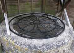 Gallery of water well tops including pictures Water Well, Outdoor Living, Outdoor Decor, Decoration, Wrought Iron, Metal Working, Living Spaces, Wellness, Cover