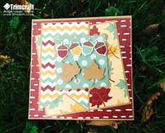 Learn how to make this acorn card with our autumn themed Trimcraft Printable Papers and cardmaking tutorial