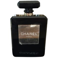 Pre-owned Chanel Perfume Bottle Black/gold Clutch ($16,050) ❤ liked on Polyvore featuring bags, handbags, clutches, gold purse, chanel, chanel pochette, black purse and black handbags