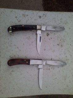 Pocket Knife Pakistan Blade Folding Stainless Steel Lot Of 2 Knives  #Unknown