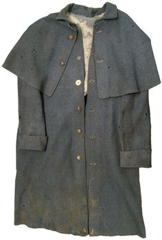 Only one imported Confederate, S. Isaac Campbell & Company overcoat has survived. From this original, we can compare it to Randolph's overcoat and see that both companies used the same basic, British army pattern. Artifact courtesy of the Texas Civil War Museum, Fort Worth, Texas.Picture