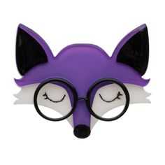 Limited edition, Erstwilder Emry the Asleep fox in purple. Designed by Louisa Camille Melbourne. $29.95