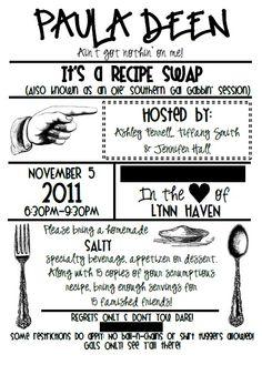 Recipe Swap Party Ideas!