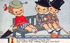 Nora-Annie-Birch-Postcard-Im-Having-A-Wonderful-Time-Dear-1933