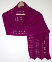 Ravelry: leaf lace shawl pattern by toni toland