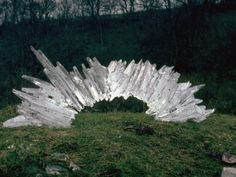 Andy Goldsworthy crystal sculpture