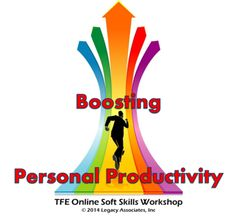 Boosting Personal Productivity Online Workshop @ Training for Entrepreneurs, 8374 Market Street #167, Lakewood Ranch, FL 34202, United States on Dec 03 at 2:00 pm - 3:30 pm. New approaches and practical strategies to achieve optimum levels of productivity in both personal and professional environments. Acquire a full range of productivity enhancement tools for immediate use. Category: Classes / Courses - Professional Training - Classes, Courses and Workshops. Artists: Terry H Hill.Price: USD…