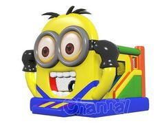 cute minion bounce house, jump and have fun. Despicable Me 2 Minions, Cute Minions, Bouncy House, Bouncy Castle, Minion Inflatable, Minion Theme, Business Card Holders, 1 Piece