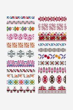 Cross Stitch Borders - Time to add a little edge to your cross stitch projects. Luckily, these free cross stitch borders will do the trick. From dainty floral designs to captivating bold patterns, use any of these motifs for your next project. Small Cross Stitch, Cross Stitch Heart, Cross Stitch Borders, Cross Stitch Designs, Cross Stitch Patterns, Blackwork Cross Stitch, Cross Stitching, Cross Stitch Embroidery, Beginner Embroidery