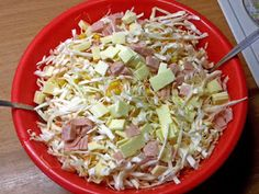 Cabbage Salad, Dessert Recipes, Desserts, Ham, Cheese, Vegetables, Food, Cole Slaw, Tailgate Desserts