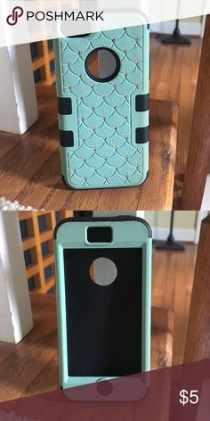 iPhone 5c case Mint green and black bejeweled iPhone 5c case; never used Accessories Phone Cases