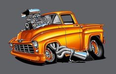 (notitle) – John Imming – Join the world of pin Chevy Pickup Trucks, Classic Chevy Trucks, Chevy Pickups, Classic Cars, Cool Trucks, Cool Cars, Cartoon Car Drawing, Cool Car Drawings, Truck Art