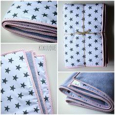 baby blanket/comforter with grey stars