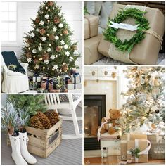 Rustic Natural & Neutral Christmas Style Series shares beautiful decor, DIYS, inspiration and ideas for creating a cozy neutral Christmas style.