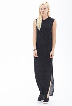 Hooded Maxi Dress by Forever 21 on HeartThis Shop Forever, New Outfits, Just In Case, Latest Trends, High Neck Dress, Forever21, My Style, Womens Fashion, Casual