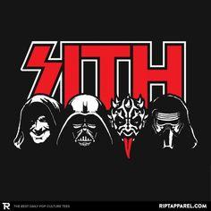 Darth Metal - Heavy Metal Machine - Mens - T-Shirts Star Wars Stencil, Star Wars Fan Art, Star Wars Pictures, Star Wars Images, Vader Star Wars, Darth Vader, Cuadros Star Wars, Beatles, Rock Poster