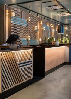 Pin by rachel zimmerman on counter / servery in 2019 restaurant interior de Restaurant Interior Design, Shop Interior Design, Cafe Design, Interior Design Inspiration, Design Hotel, House Design, Bar Counter Design, Cashier Counter Design, Cafe Counter