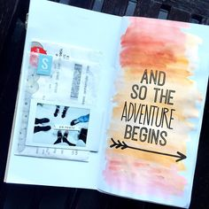 And so the adventure begins Traveler's Notebook layout