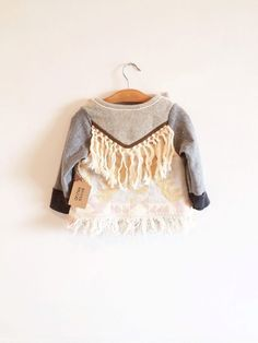 aaaaaah Boho Fringe Toddler Jacket