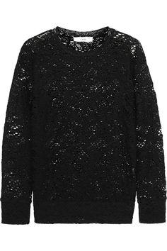 IRO|Fulnie open-knit cotton-blend top|NET-A-PORTER.COM