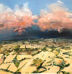 David Firmstone: paintings pink clouds