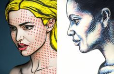 Art of Face: a series about models transformed into 2D images with makeup