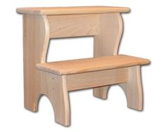 Bedside Stepstool / Kitchen / Bathroom / As A Plant Stand - Unfinished
