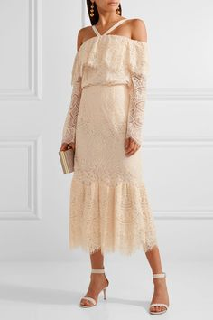 Peach corded lace Slips on 41% cotton, 31% nylon, 28% rayon; lining: 98% silk, 2% spandex Dry clean Designer color: Blush