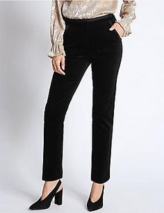 Cotton Rich Slim Leg Trousers #trousers #leggings #skinny #women #woman #fashion #style #marksandspencer #kadın #pantolon #mscollection #autograph #peruna #limitededition #wideleg #slimleg #straightleg