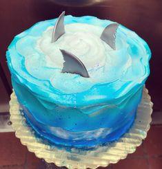 Shark Birthday Cakes, Birthday Sheet Cakes, 7th Birthday, Birthday Ideas, Pretty Cakes, Cute Cakes, Fun Cupcakes, Cupcake Cakes, Flower Cake Decorations