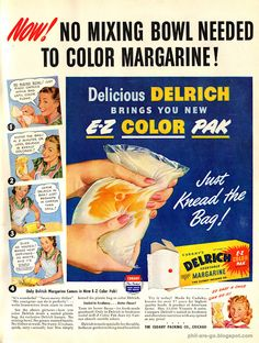 Margarine coloring now looks like real fake butter!