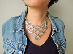 Bib Necklace, Statement necklace Women Jewelry , Boho Necklace , Ethnic Necklace ,  Mother's Day Gifts, zinc alloy necklace, casual necklace