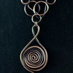 Swirly copper necklace -sold