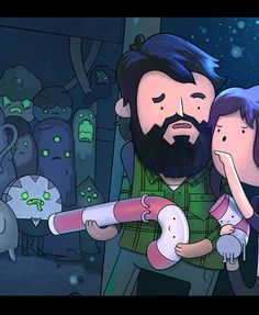 """Image of """"THE LAST OF US ADVENTURE TIME"""" by Greggory Metzler, Print (10"""" x 16"""")"""