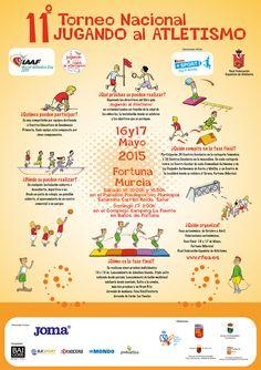 Este fin de semana se celebra en Fortuna (Murcia) la final del 11º Torneo Nacional Jugando al Atletismo. Éste es su cartel oficial. Más información: http://www.rfea.es/web/noticias/desarrollo.asp?codigo=8078#.VVMBLo7tmko