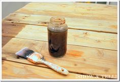 How to weather new wood with steel wool and vinegar