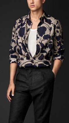 Floral Print Cotton Silk Artist Shirt | Burberry. 595
