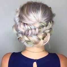 Beautiful pastel braids