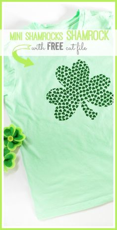 Shamrock Tee with FREE cut file - Sugar Bee Crafts - wilhelmina. St Patrick's Day Crafts, Bee Crafts, Diy Crafts To Sell, Kids Crafts, Mason Jar Crafts, Mason Jar Diy, Vinyl Projects, Sewing Projects, Craft Projects