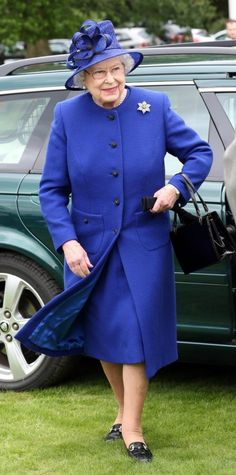 Queen Elizabeth attends the final of 'The Al Habtoor Royal Windsor Cup' at the Guards Polo Club near Windsor in London.
