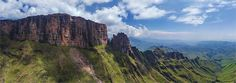 The Drakensberg - Dragon Mountains, South Africa Aerial 360° 3D Virtual